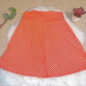 Merona orange chevron stripe stretch skirt